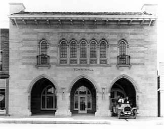 Town Hall 1920 Front view