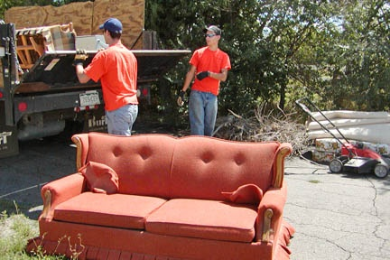 """Summer Cleanup Team will pick up old sofas."