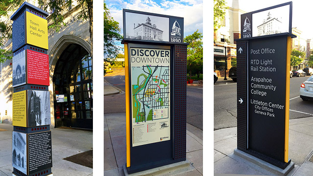 Downtown Wayfinding Signage Littleton Co