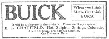 Chatfield - Buick Advertisement