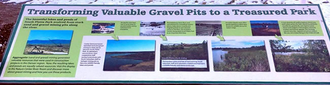 South Platte Park educational sign
