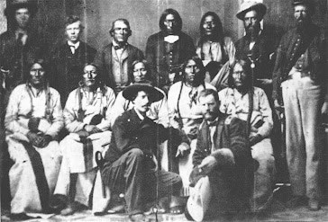 Arapaho and Cheyenne at 1864 Camp Weld peace conference