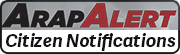ArapAlert citizen notifications button