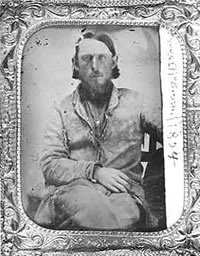 Daguerrotype portrait of Isaac McBroom 1858