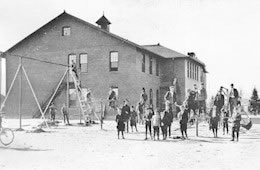 Schools - 1911 Rapp Street with children in play area