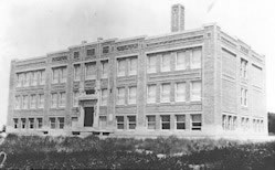 Old Littleton High School, later Grant Jr. High. Date unknown.