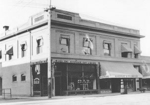 Coors Building at the northeast corner of Main Street and Nevada Avenue, June 1906