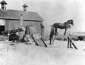 Putting up ice on the Caley Ranch on Platte Canyon Road 1905
