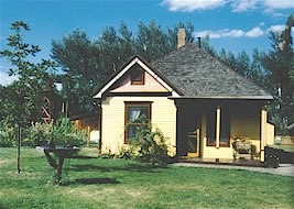 Fred Bemis House now located at the Littleton Historical Museum