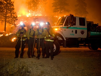 Littleton Wildland team at the front line