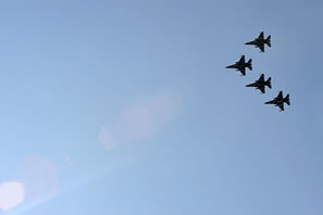 Flyover at Dietz memorial dedication