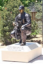 Danny Dietz memorial sculpture - front