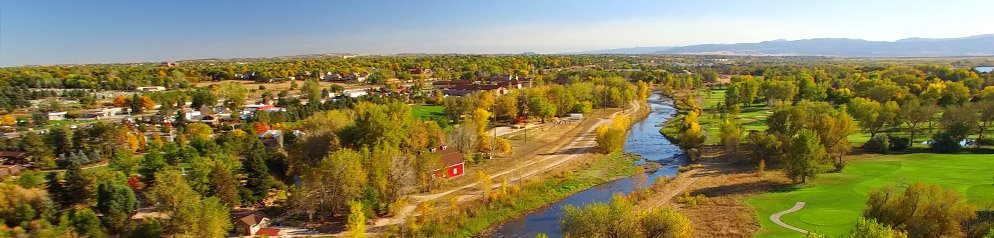 Aerial of South Platte River and Littleton Golf Course