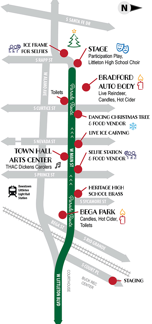 2019 Candlelight Walk map and schedule of activities