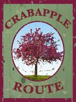 Crabapple route sign